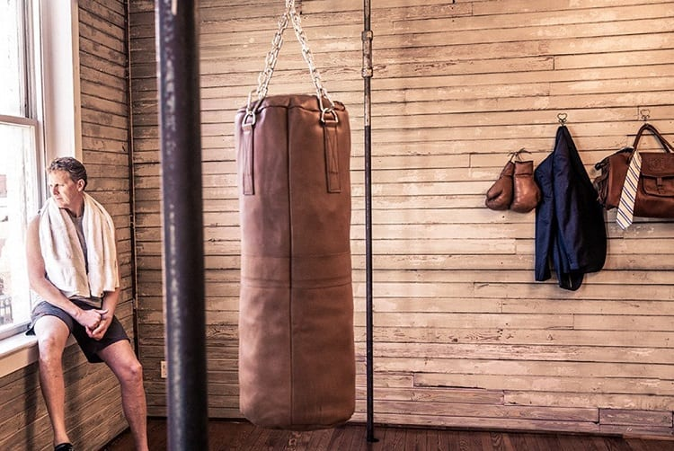 Hanging Leather Punching Bag
