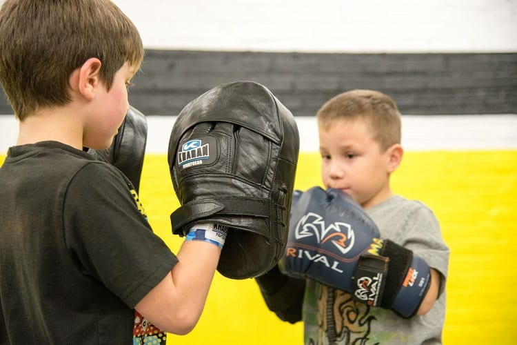 Two Kids Training MMA