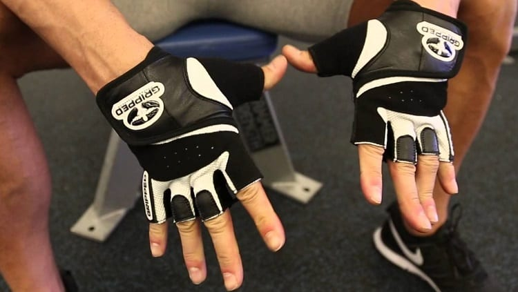 MMA Gloves On Hands
