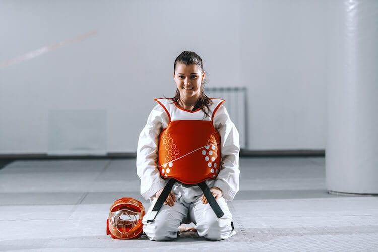 Woman in Taekwondo Gear