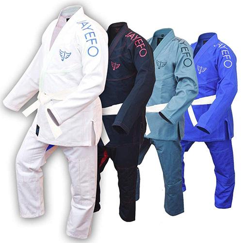 Jayefo Men's BJJ GI Brazilian JIU Jitsu Pre-Shrunk Lightweight Pearl Weave Fabric IBJJF Legal