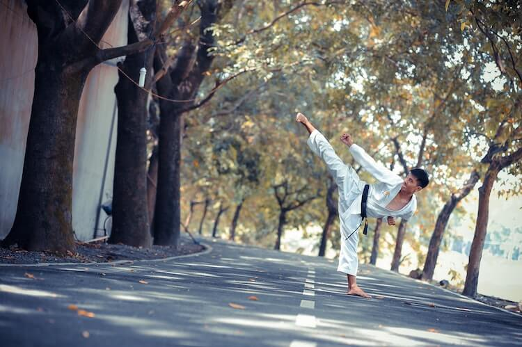 Kung Fu Training in Street