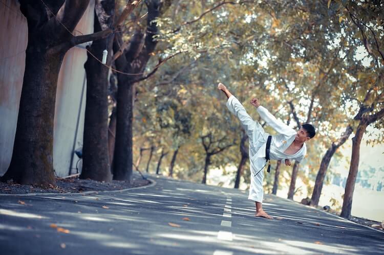 Kung Fu Training in Street