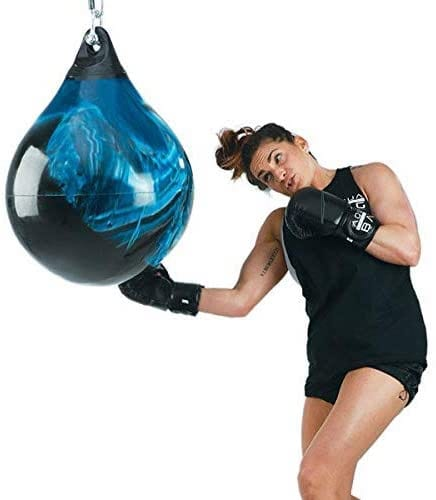 Aqua Teardrop 190 lbs Punching Bag