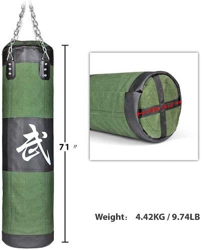 Flexzion Canvas Punching Bag