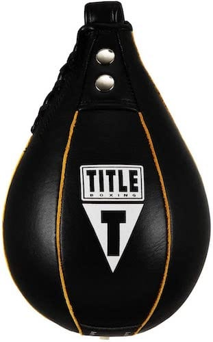 Title Boxing Leather Speed Bag