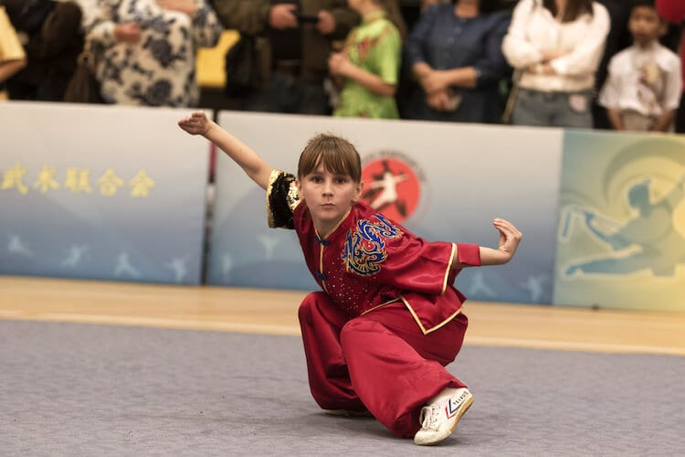Young Girl in Wushu Contest